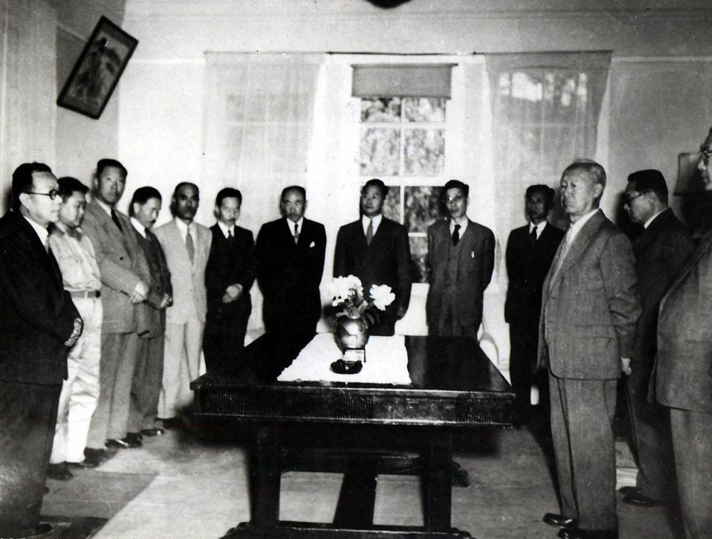 국무회의에서의 부통령취임인사